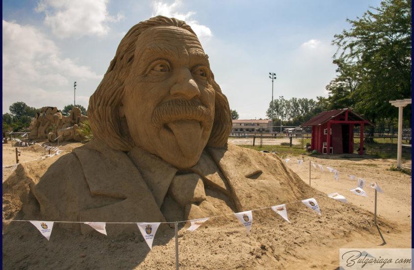 Sandy sculptures in Burgas