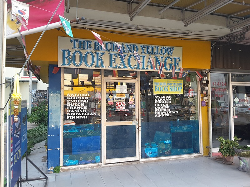 Blue And Yellow Book Exchange Hua Hin